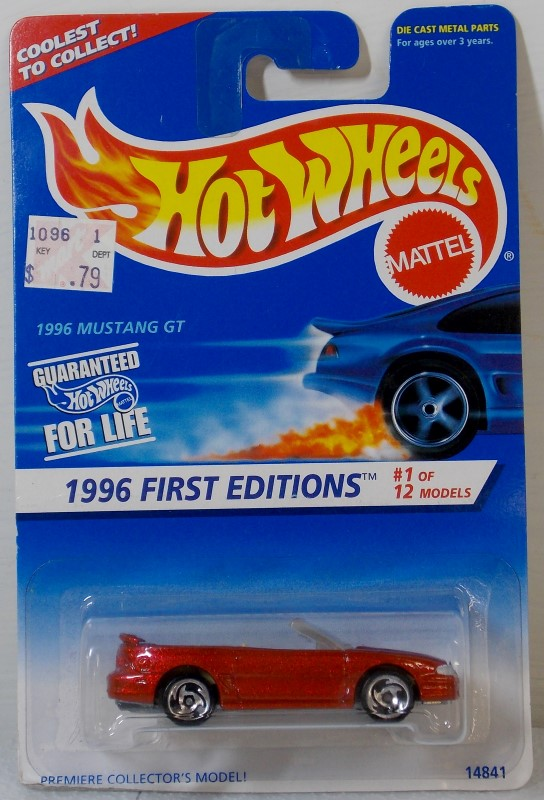 HOT WHEELS 1996 FIRST EDITIONS, 6 CARS ONLY