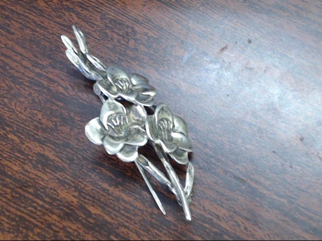 Silver Brooch 925 Silver 4.9g
