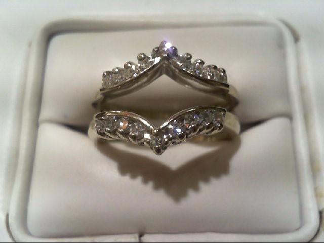 Lady's Gold-Diamond Ring Guard 18 Diamonds .54 Carat T.W. 14K Yellow Gold 5.6g