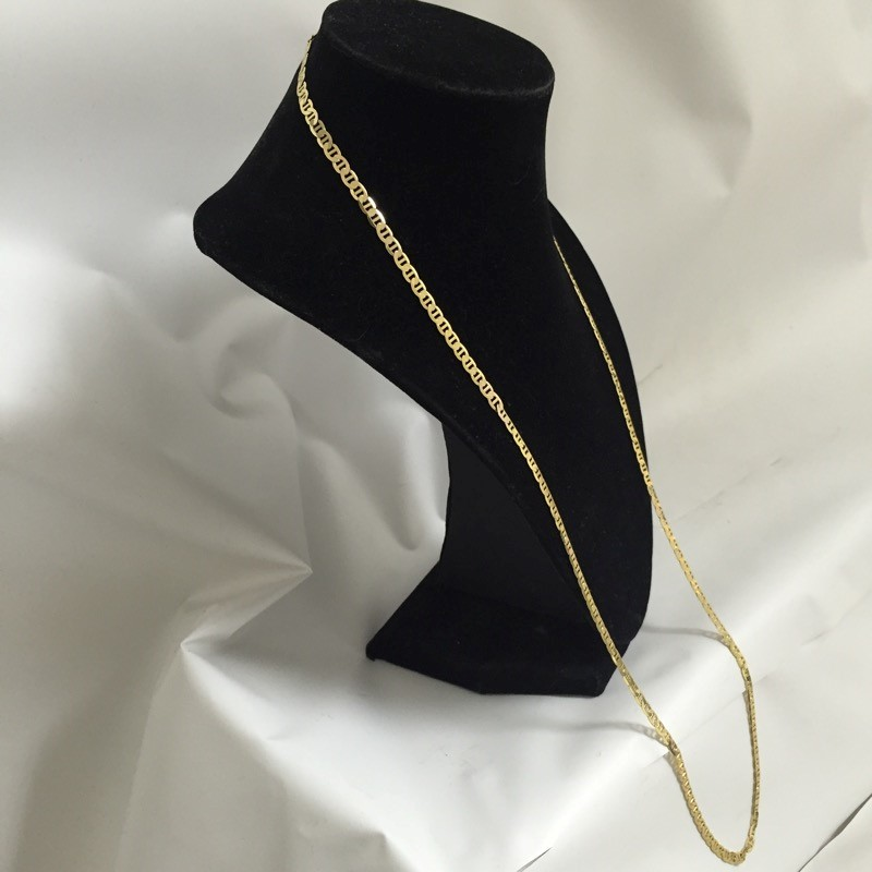 """30"""" Gold Anchor Chain 10K Yellow Gold 10.5dwt"""