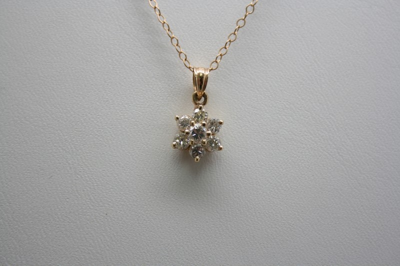 FASHION STYLE PENDANT 14K YELLOW GOLD
