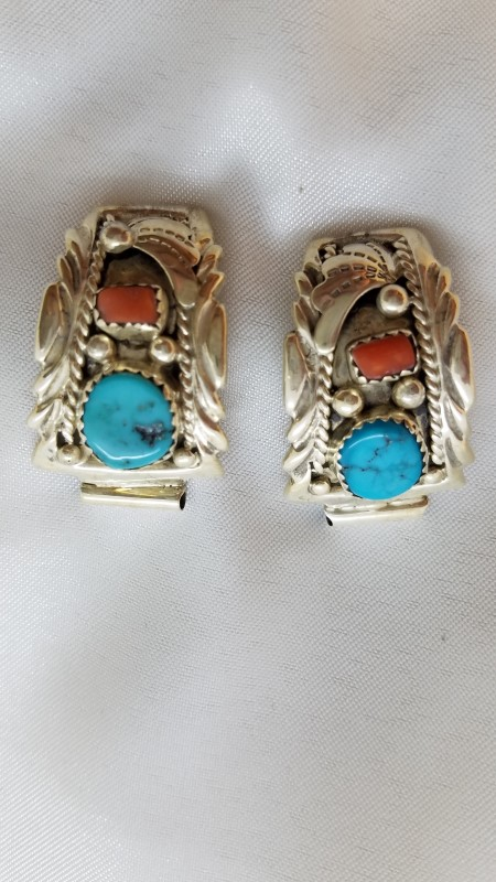 Synthetic Turquoise Silver-Stone Misc. 925 Silver 12.5g
