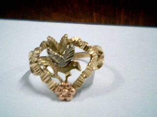 Lady's Gold Ring 14K Tri-color Gold 2g Size:7