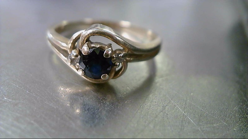 Blue Stone Lady's Stone Ring 14K Yellow Gold 2.82g
