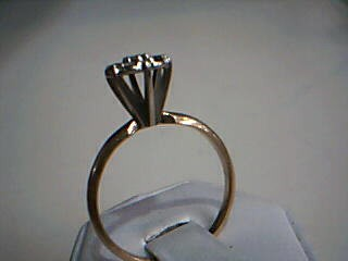 Lady's Diamond Cluster Ring 7 Diamonds .70 Carat T.W. 14K Yellow Gold 3.3g