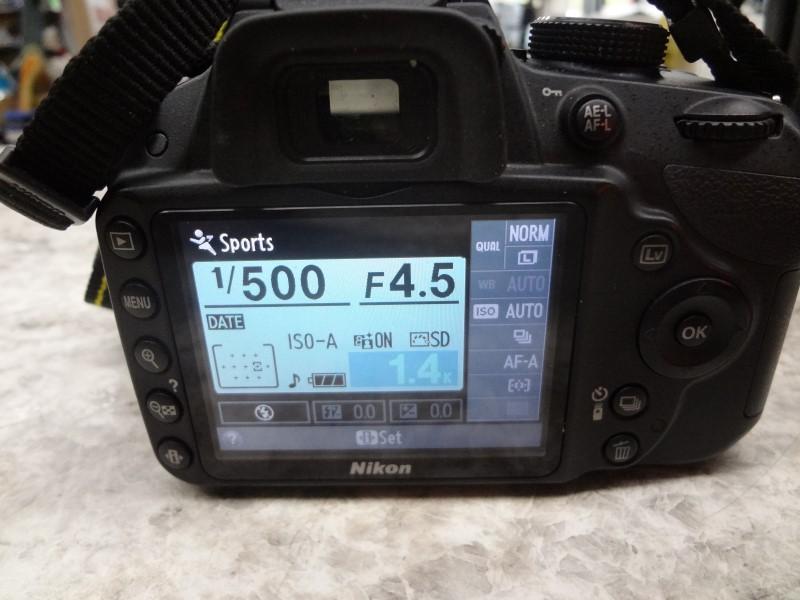 NIKON DIGITAL CAMERA D3200 - DSLR - 24.2 MP - 8&16GB SD CARDS - LENS BRUSH, CASE