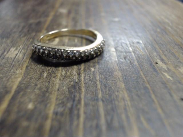 White Stone Lady's Stone Ring 14K Yellow Gold 2.7g Size:7
