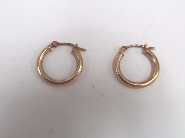 14 KT YELLOW GOLD SMALL HOOP EARRINGS
