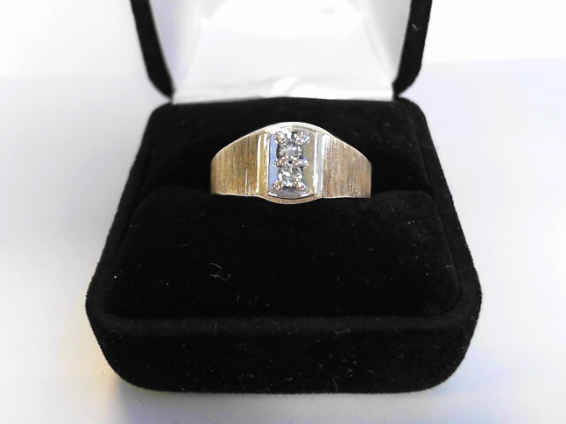 Gent's Diamond Cluster Ring .10 CT. 10K Yellow Gold 2.68dwt Size:10