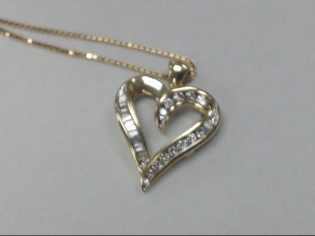 Diamond Necklace .01 CT. 14K Yellow Gold 3.92dwt