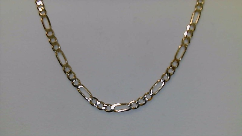 10k yellow gold 18 inch figaro chain