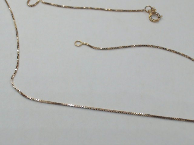 "18"" Gold Box Chain 14K Yellow Gold 1.1g"