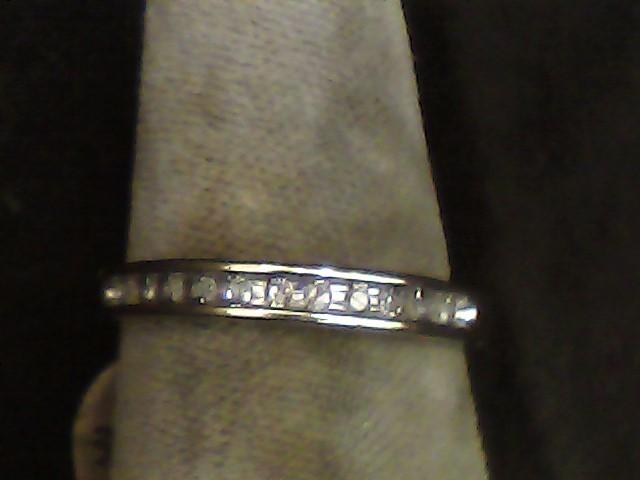 Lady's Diamond Wedding Band 10 Diamonds .10 Carat T.W. 10K Yellow Gold 1.1dwt