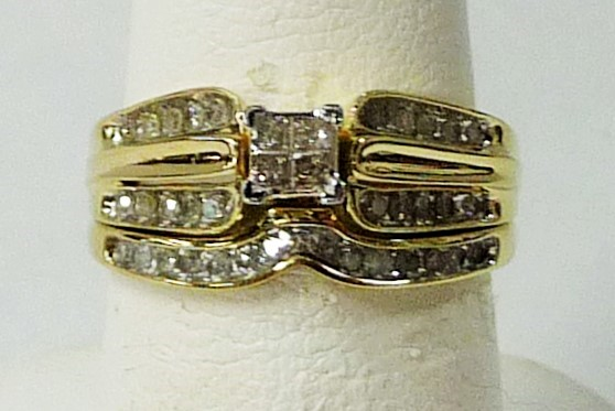Lady's Diamond Wedding Set 34 Diamonds .46 Carat T.W. 10K Yellow Gold 2.29dwt