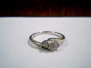 Lady's Diamond Wedding Band 3 Diamonds .26 Carat T.W. 14K White Gold 2.3g