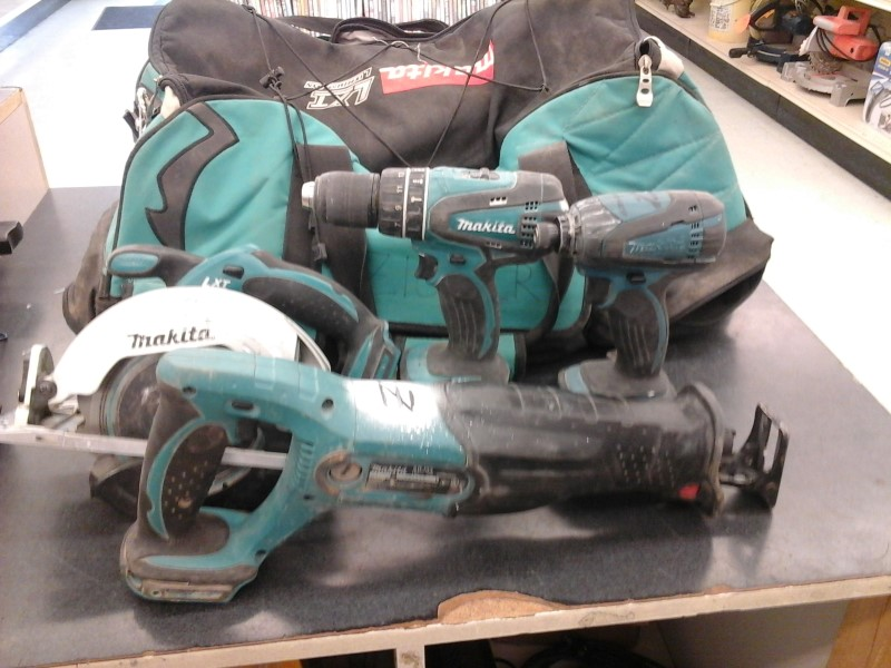 MAKITA Combination Tool Set LXT601