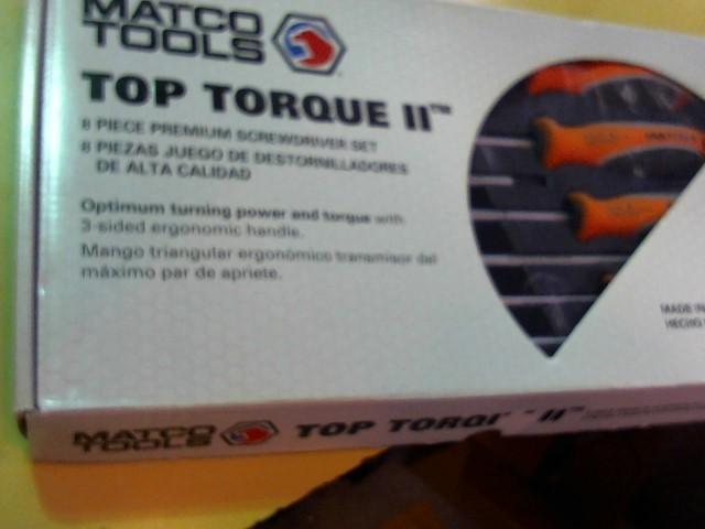 MATCO TOOLS Screwdriver TOP TORQUE II 8 PIECE SET