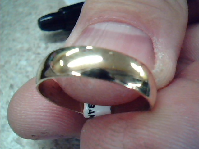 Lady's Gold Wedding Band 14K Yellow Gold 2.5g Size:7