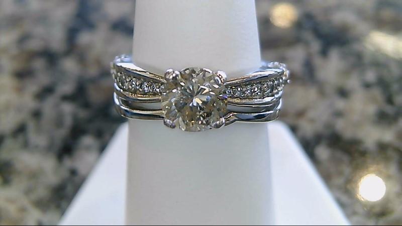 Lady's Diamond Wedding Set 29 Diamonds 1.38 Carat T.W. 14K White Gold 7.2g