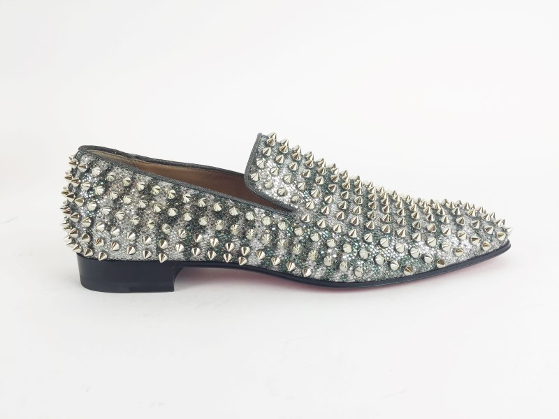 CHRISTIAN LOUBOUTIN DANDELION SPIKES FLAT SIZE 7.5US