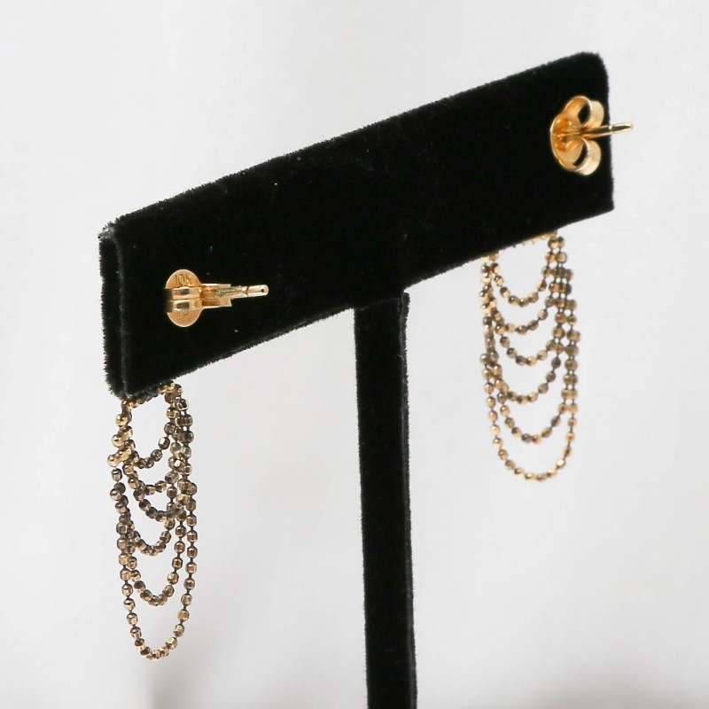 10K Yellow Gold Chandelier Dangle Earrings