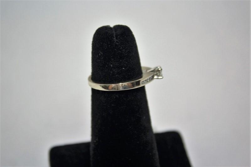 Lady's Diamond Engagement Ring 13 Diamonds .43 Carat T.W. 14K White Gold 3.5g