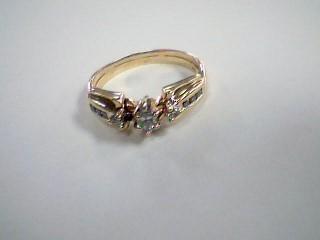Lady's Diamond Solitaire Ring 9 Diamonds .43 Carat T.W. 10K Yellow Gold 4.4g