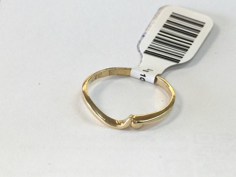 LDS 10KT Lady's Gold Wedding Band PLAIN BAND 10K Yellow Gold 0.7dwt Size:6.5