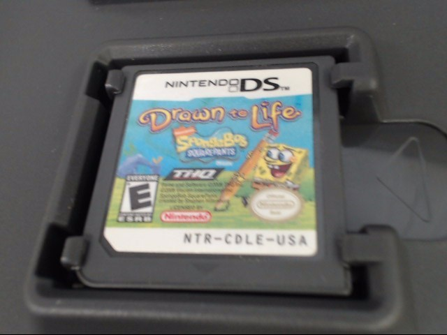 SPONGEBOB SQUAREPANTS DRAWN TO LIFE - DS GAME