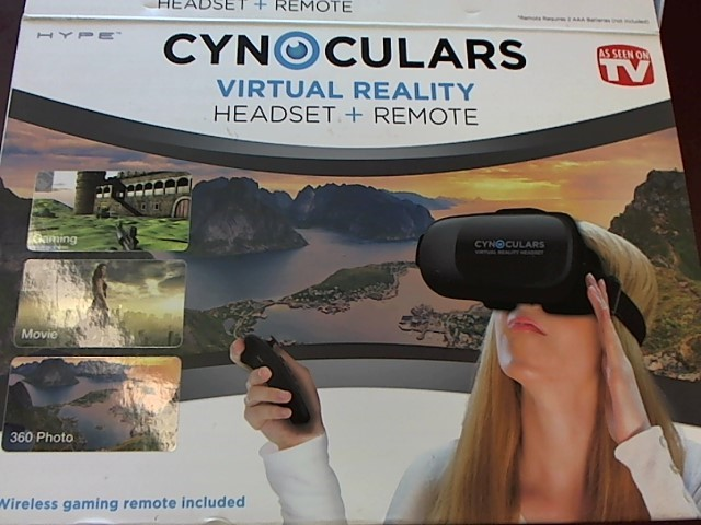 HYPE CYNOCULARS VIRTUAL REALITY HEADSET AND REMOTE