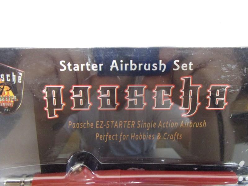 PAASCHE EZ-STARTER SINGLE ACTION AIRBRUSH SET, NIB