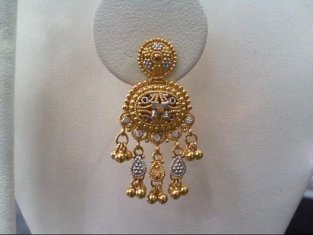 Gold Earrings 22K Yellow Gold 9.1g