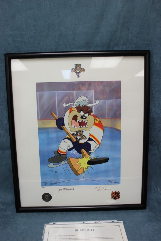"Warner Bros. Lithoserigraph ""Slapshot"" Florida Panthers #'d 120/250"