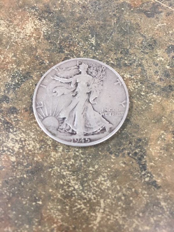 UNITED STATES Silver Coin 1945 LIBERTY HALF DOLLAR