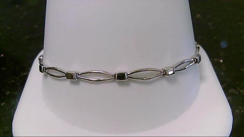 """7"""" Two Tone Gold Fashion Bracelet 5.9G"""
