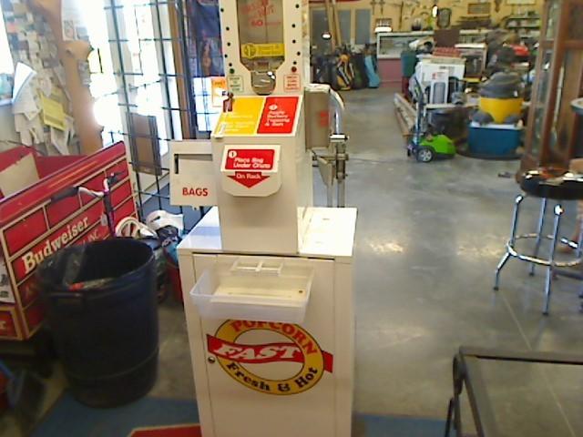 COIN OPERATED POPCORN MACHINE