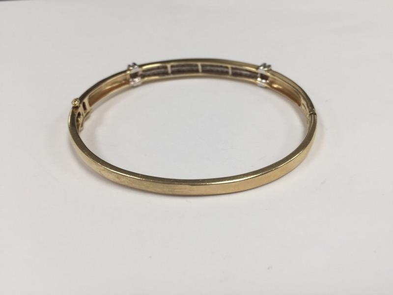 Gold-Diamond Bracelet 50 Diamonds 2.50 Carat T.W. 14K Yellow Gold 10.2g