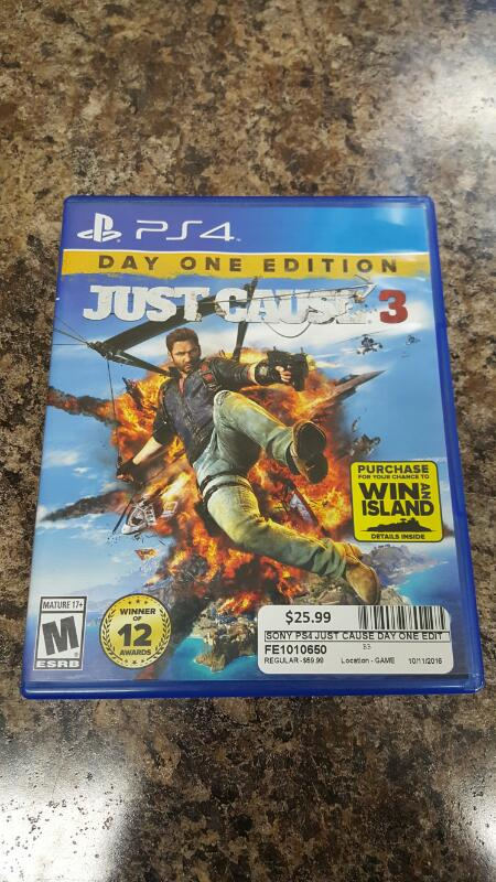 Just Cause 3 - Day One Edition (Sony PlayStation 4, 2015) PS4