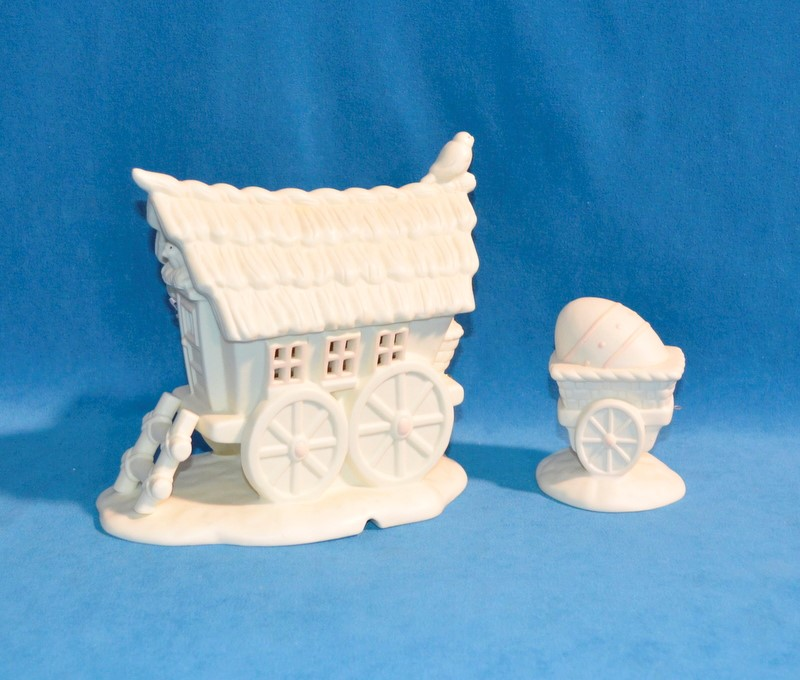 DEPARTMENT 56 Collectible Plate/Figurine MY WOODLAND WAGON