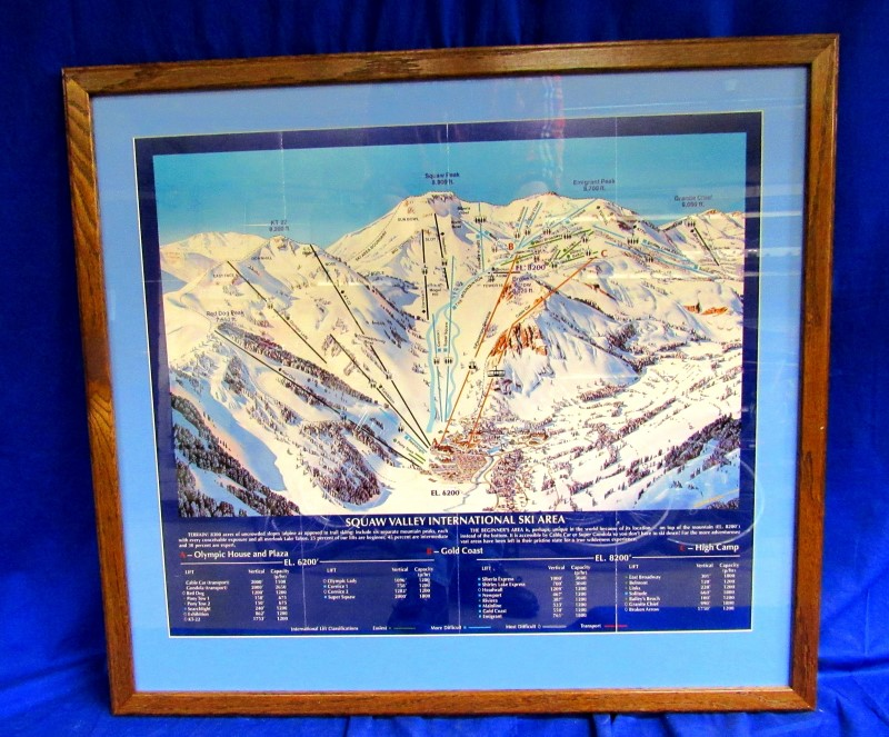 SQUAW VALLEY SKI AREA - FRAMED PRINT