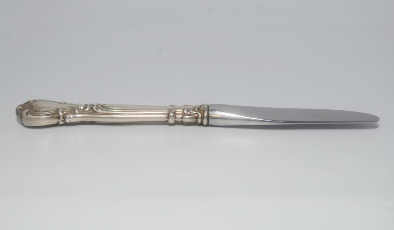 "Chantilly by Gorham 6-1/4"" Silver Modern Hollow Butter Spreader Knife NO MONO"