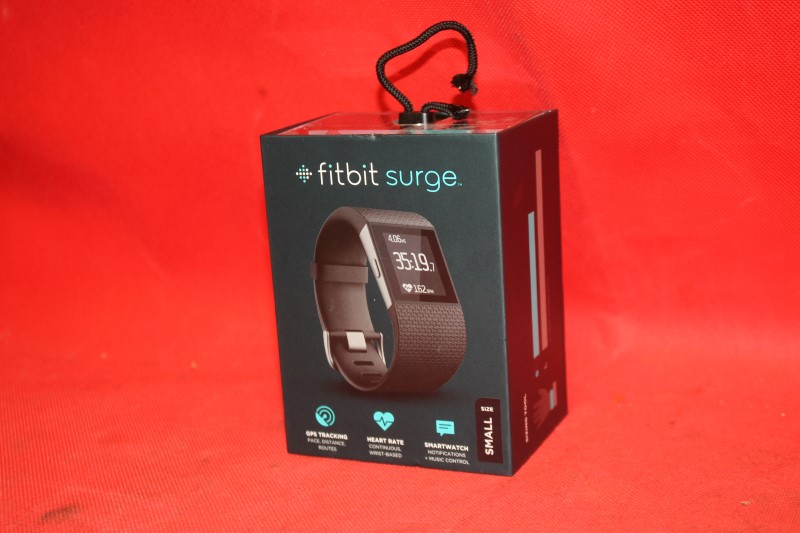 Fitbit Surge Smart Watch with Heart Rate Monitor Small Black