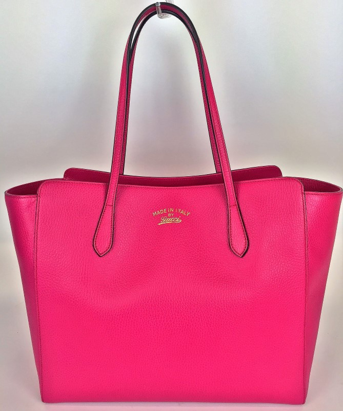 GUCCI SWING MEDIUM LEATHER TOTE 354397
