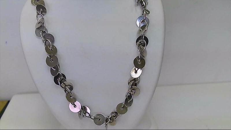 NEW STERLING SILVER DISC NECKLACE