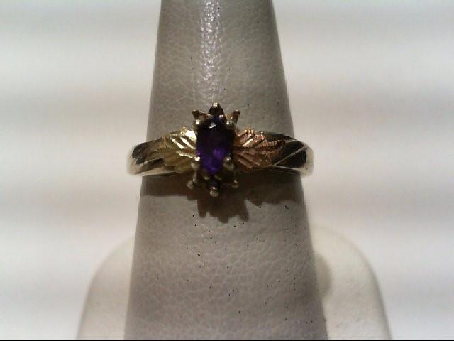Amethyst Lady's Silver & Stone Ring 925 Silver 2.75g