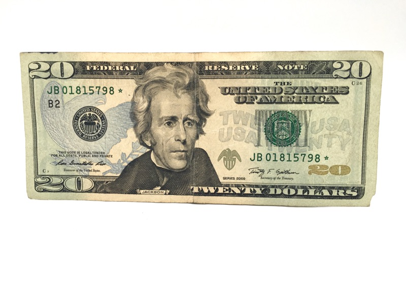 2009 $20 Star Note - JB NEW YORK - Nice Bill