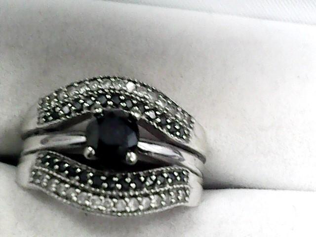 Lady's Diamond Wedding Set 61 Diamonds 1.10 Carat T.W. 10K White Gold 4.3dwt