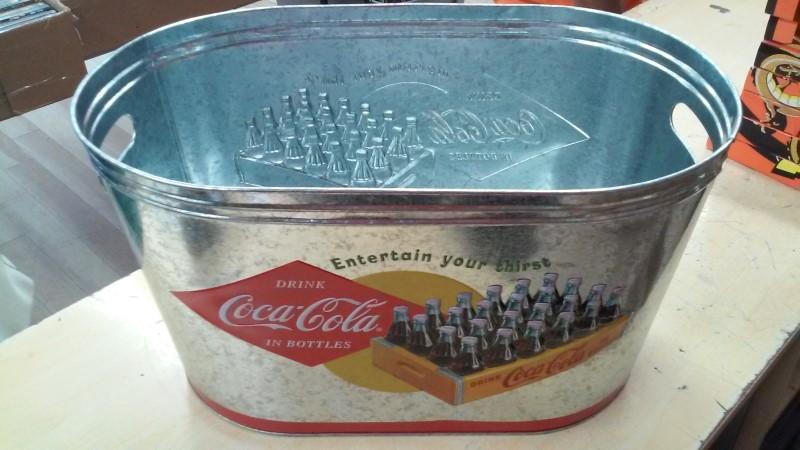 COCA COLA Collectible Plate/Figurine GALVANIZED ICE BUCKET