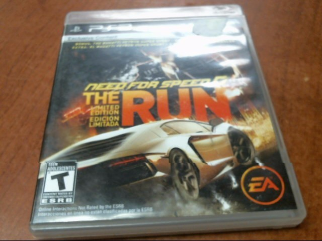 SONY Sony PlayStation 3 Game PS3 NEED FOR SPEED THE RUN LIMITED EDITION