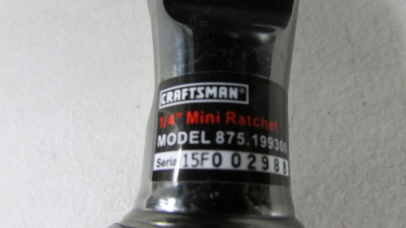 CRAFTSMAN Air Ratchet 875.199300